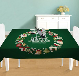 RectangulaR table cloth coveR online shopping - Christmas Table Cloth Linen Marry Christmas New Year Waterproof Thicken Rectangular Tablecloth Table Cover Xmas Decoration