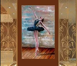 $enCountryForm.capitalKeyWord Australia - Ballet Dancer,Pure Hand Painted Modern Abstract Figure Art oil painting,On High Quality Canvas Home Wall Decor Multiple Size p05