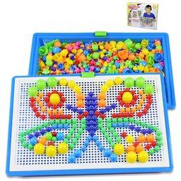 296 Grains Bébé Jouets Creative Coloré Mosaïque Champignon Nail Ding Enfants Apprentissage Jouet Insérer Des Perles Puzzle Jouets Éducatifs Pour Enfants B