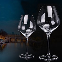 Led Crystal Bubble Australia - European Handmade Transparent 400ml Goblet Wine glass Bordeaux Bubble Originality transparent Lead-free Crystal Glass