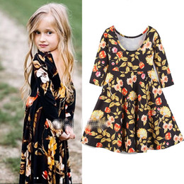 d9f405b50db9 8 Fotos Ropa de moda de las niñas online-Vestido de niña INS floral 2018  Moda de