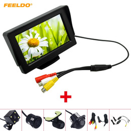 "wireless rear view camera monitor Australia - FEELDO Car 4.3"" TFT LCD Stand-alone Monitor With Rear View Parking Camera RCA Video System 2.4G Wireless & Cigarette Lighter Optional #4313"