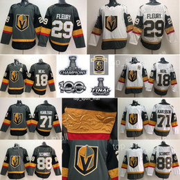 Kids Hockey Jerseys Stanley Cup Final Patch Vegas Golden Knights James Neal  Marc-Andre Fleury William Karlsson Inaugural Children Youth Boys faa24a007