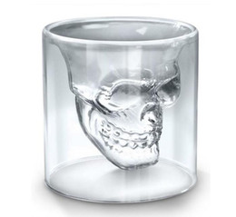 Wine cocktails online shopping - 25ML Wine Cup Skull Glass Shot Glass Beer Whiskey Halloween Decoration Creative Party Transparent Drinkware Drinking Glasses