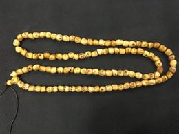 $enCountryForm.capitalKeyWord UK - 5pcs lot YAK BONE SKULL Prayer Beads Necklace ! Tibetan Buddhist Mala shaman Rosary 108 Buddhist beads