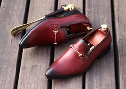 $enCountryForm.capitalKeyWord NZ - Genuine Leather 2018 Man Wedding Dress Oxfords Shoes Black Wine Retro Derby Shoes Buckles Decoration Men Party Prom Tuxedo Shoes
