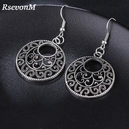 Gran amor corazón aro pendientes de plata tibetana boho Bijoux