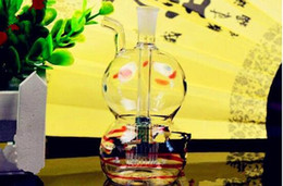 Bong Gourd NZ - Color Gourd Hookah ,Wholesale Bongs Oil Burner Pipes Water Pipes Glass Pipe Oil Rigs Smoking Free Shipping