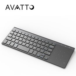 Discount ios laptop - [AVATTO] T19 Ultra-thin 2.4G Wireless Multimedia Keyboard with Touchpad for Windows IOS Samsmg Android PC,Desktop,Laptop