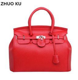 98d32bf241c5 Hot Sale Vintage Celebrity Girl Faux PU Leather Tote Hand Bags for women  fashion designer bolsos shoulder bag Woman Handbag