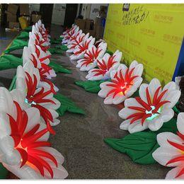 $enCountryForm.capitalKeyWord Canada - Stage decorative inflatable flower chain lighting auto opening inflatable petunia flower chain