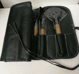 Wholesale ePacket New Makeup Brushes B Pieces Brush Sets With Leather Pouch
