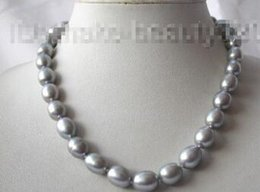 pearl chain indian style UK - Free shipping >@@> stunning 13mm baroque gray freshwater cultured pearl necklace s704Noble style Natural Fine jewe fast SHIPPING