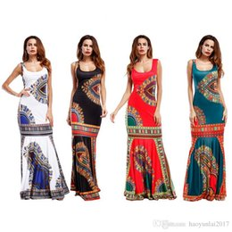 363537b1febe Women African Dashiki Dresses Maxi African Bazin Print Robe Longue Dresses  Traditional For Ladies Big Size African Clothing