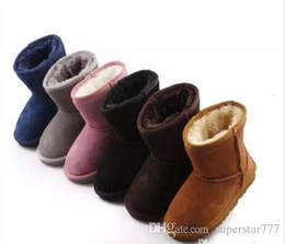 babies snow boots NZ - Hot SALE New Real Australia 528 High-quality Kid Boys girls children baby warm snow boots Teenage Students Snow Winter boots Hot 2019