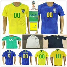 $enCountryForm.capitalKeyWord Australia - 2018 World Cup Soccer Jersey PELE G.JESUS P.COUTINHO MARCELO RONALDINHO COUTONHO CASEMIRO FAGNER ALISSON Custom Home Away Football Shirt
