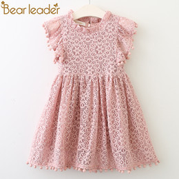 7d2cf074a7bc Bear Leader Girls Dress 2018 New Summer Brand Girls Clothes Lace And Ball  Design Baby Girls Dress Party Dress For 3-7 Years Y1892113