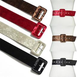 Cinturón ancho Vestido de mujer Cinturones Decorar Cintura Moda Plata Pin  Hebilla Terciopelo Cinturón Partido Negro Franela Mujeres d615735ace8a