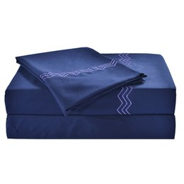 $enCountryForm.capitalKeyWord UK - 4pcs Bedding Sets Home Textile 100%High Quality Polyester Queen King Size Duvet Cover Solid Style Navy Blue White Gray Bed Sheet Mix Order