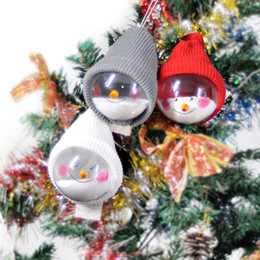 candles for party decoration UK - 5Pcs Transparent Snow Man Hanging Christmas Ornaments Ball Xmas Trees Decorations for Holiday Wedding Party Decoration for home