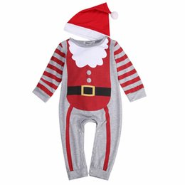 2d360cd712e Baby Boys Girl Xmas Santa Claus Rompers 2018 Bebes Newborn Baby Kid Cute Christmas  Jumpsuit+Hat Headband Outfits Kids Clothes
