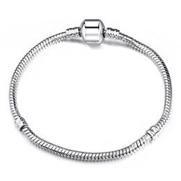 23cm Silver Bracelets Australia - DIY Pulseira Beads Charms Fits Pan Bracelet 17-23CM 1PCs ONLY Silver 3MM Snake free shipping on 925 Chain Fits European