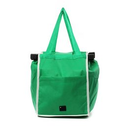 L handLes online shopping - Non Woven Shopping Bag With Handle Folds Flat Trolley Hanging Bags Easy To Carry Storage Pouch New Arrival xb B