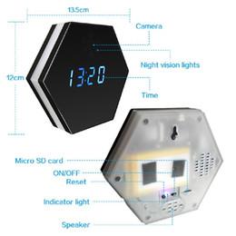 Clock Camera Recorder Australia - 1080P WIFI Wireless Night vision Color Mirror Clock Video recorder Wireless Clock security camera