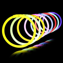 Discount light stick glowing wand - 7.8''Multi Color Hot Glow Stick Bracelet Necklaces Neon Party LED Flashing Light Stick Wand Novelty Toy LED Vo