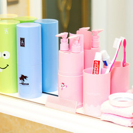 Portable tooth brush online shopping - Portable Travel Tooth Brushes Round Pen Holder Wash Case Toothbrush Cup Brush Holder Tube Storage Toothpaste Organizer Container