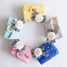 Mini Baby Girl Toddler Canada - Chickids Stylish! DHL Free Shipping Children's Fashion Shoulder Bags Kids Flowers Pearl Purse Baby girls Small BAGS Toddlers Mini bags CK059