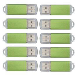 Thumb Flash Drive Australia - Green Bulk 200PCS 32GB USB 2.0 Flash Drive Rectangle Thumb Pen Drives Flash Memory Stick Storage for Computer Laptop Tablet Macbook U Disk
