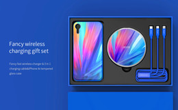 Glasses Fast Australia - Nillkin Fancy Set 10W Tempered Glass Panel Fast Wireless Charger for iPhone XS Max XR X Nilkin Phone Case Wireless Charging Pad