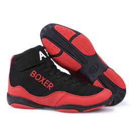 wholesale dealer 5a9cb 66f1d Unisex boxeo profesional lucha zapatos de lucha mujeres hombres malla de  microfibra transpirable zapatillas de deporte