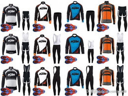 Bike New Jersey Free Shipping Australia - KTM team Cycling long Sleeves jersey (bib) pants sets new mans Breathable Bike Clothes Ropa Ciclismo Sportswear Free shipping D1731