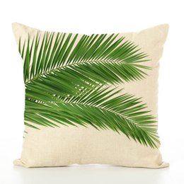 $enCountryForm.capitalKeyWord UK - Linen Cushion Cover Beige Background Metalic Zipper Removeable Botany Pattern Natural Style Throw Pillow Summer Use Many Types Wholesale Use