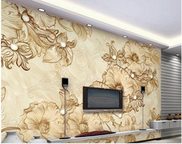 designer kitchen wallpaper UK - wall papers home decor designers Marble line drawing floral living room TV background wall