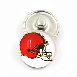 InvIsIble glasses online shopping - 20pcs Sports Football Team Snap Buttons Glass Snap Charms Fit mm DIY Snap Necklace Jewelry Making
