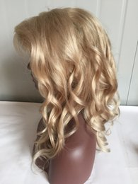 Human Hairs Golden Blonde Australia - golden blonde lace front wigs brazilian hair golden blonde glueless lace front human hair wigs