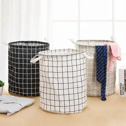 $enCountryForm.capitalKeyWord Australia - Medium Folding Laundry Basket Storage Basket Barrel for Kids Standing Toys Clothing Storage Bucket Laundry Organizer Holder Pouch 0325