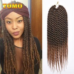 "twisted hair NZ - TOMO crochet braids twist Braid Pure Or Mixed Black Brown Ombre Braided Hair Bluk synthetic braiding hair extensions 12"" 18"" 12 roots pack"