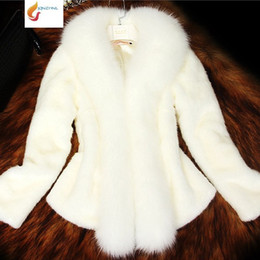 White Faux Fur Shorts Australia - 2018 New Autumn Winter Short Women's Faux Fur Jacket Fashion Slim Thin Fur Coat Winter Warm Large Size High end Jacket G870