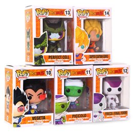 Chinese  Dragon Ball Funko Pop Figure Frieza Son Goku Cell Vegeta Piccolo Action Figures Dragon Ball Collection Doll Kids Toys manufacturers