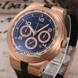 9cdf003ede Nuevo P253.794 Edición limitada Pd Design Sport Racing Car Dive Relojes  Rosa oro Negro Dial Cuarzo Cronógrafo Reloj para hombre Cronómetro de goma  p46
