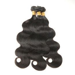 Hair Wave Machines UK - Indian Body Wave Hair 3 Bundles Hair Extensions 100% Unprocessed Human Virgin Hair Weaves Natural Color