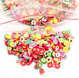 Nail fimo online shopping - Hot Fruits Animals Flowers D Nail Stickers Women Girls Colorful Cartoon Nail Decorations Fimo Clay Series