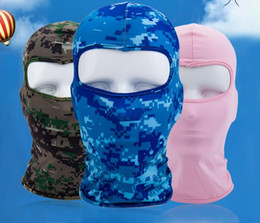 tactical camouflage hats Australia - Bicycle Cycling Masks Motorcycle Barakra Hat Cycling Caps Outdoor Sport Ski Mask CS windproof dust head sets Camouflage Tactical Mask