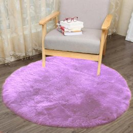 round seat covers Canada - 2018 Non-slip Artificial Sheepskin Rug Chair Soft Cover Artificial Wool Warm Hairy Carpet Non-toxic Resistant Seat PadC0307 #23
