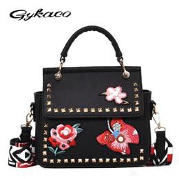 c34768f9df Gykaeo 2018 Spring Women s Shoulder Bag Portable Korean Embroidered Tote  Bags Handbags Women Famous Brands Ladies Messenger Bag