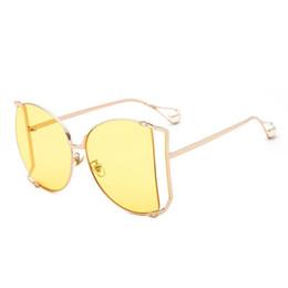 Pearl eyewear online shopping - Popular Eye Comfort Eyewear Anti UV HD Experience Men Women Spectacles Metal Hollowed Out Frame Sunglasses With Pearl jh BB